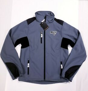 Dunbrooke NFL Los Angeles Rams Men's Soft Shell Jacket Graphite Gray Size Small
