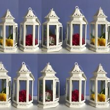 "Lot 10 White Lantern Small 8"" Candle Holder Wedding Centerpieces - Set"