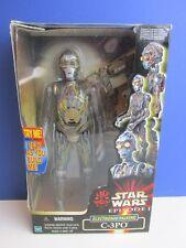 """Star Wars Electronic hablando C-3PO compilación 12"""" acción figura episodio 1 TPM 32D"""