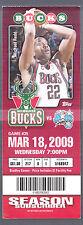 Milwaukee Bucks vs Orlando Magic March 18 2009 Ticket Stub Michael Redd Photo