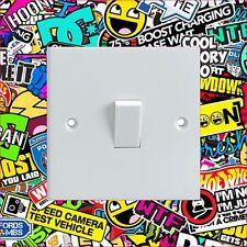 Sticker bomb dessin Animé Couleur Interrupteur surround Autocollant Mural Vinyle Imprimé