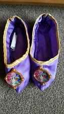 GIRLS SHIMMER & SHINE PURPLE GENIE STYLE DRESS UP SLIPPERS APPROX SIZE 10-12