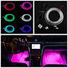 RGB LED Car Interior Neon EL Strip Light Sound Active Bluetooth Phone Control 6M