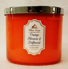 1 Bath Body Works ORANGE BLOSSOM & DRIFTWOOD Large Scented 3-Wick Candle 14.5 oz