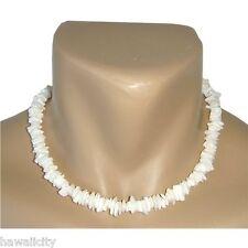 "Hawaiian Jewelry White Shell Necklace from Hawaii 18"""