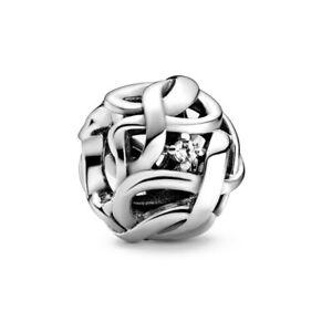 NEW Genuine S925 Pandora Rose Gold ALE R Openwork Woven Infinity Charm 788824C01