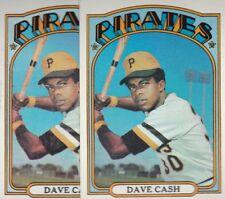 1972 TOPPS BASEBALL LOT (2) DAVE CASH #125 PIRATES EX/EX+ *L3083