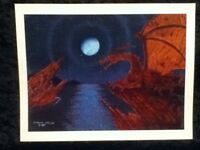 "11"" PRINT Skil Saw Art by Eric Midwest Sci Fi Dragons Cove Medieval Moon Water"