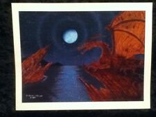 "Skil Saw Art Sci Fi Dragons Cove Medieval Moon Water 11"" Print Design by Eric"