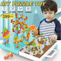 Electric Drill Puzzle Toy Set Education Kids Building Model Blocks Assembly Gift