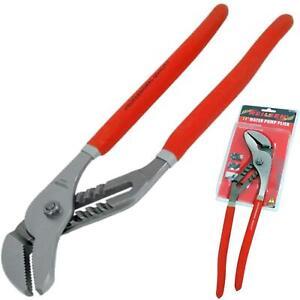 """Neilsen 14"""" Large Plumbers Soft Grip Waterpump Pipe Wrench Pliers Grips Pump"""