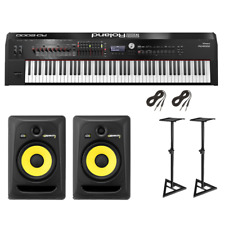 Roland RD-2000 Digital Stage Piano   KRK ROKIT 8 RP8G3 Studio Monitor Pair   ...