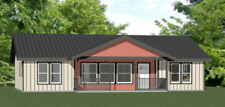 46x30 House -- 4 Bedroom 2 Bath -- PDF Floor Plan -- 1,338 sq ft -- Model 1B