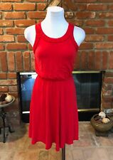 ANN TAYLOR LOFT sz XXSP Petite Red Sleeveless Summer Cansual Sun Work Dress
