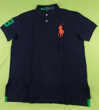 Polo Ralph Lauren Men's Custom Fit Polo Shirt Big Pony Colored Placket SS Cotton