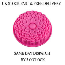 Cake Silicone Muffin Pudding Rose Flower Bakeware Pan Mould Tray UK Vincenza