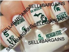 Michigan State Spartans College Logos》10 Different Designs》Nail Art Decals