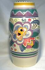 "ART DECO POOLE POTTERY 9"" VASE V / LEO THE LION  RENE HAYES"