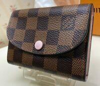 Authentic Louis Vuitton Damier   Coin purse Card case Mini wallet N64423 Evenu