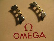 Omega Acero Inoxidable y Oro Plateado 779 X 2 enlaces final-en condición no utilizado