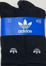 Adidas Men's 6-Pair Crew Socks Black  1927