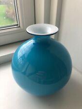 Holmegaard carnaby light blue Ball  vase Per Lutken 1967 - 13 cm. Tall