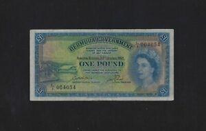 BERMUDA 1 Pound 1952 P-20 VF
