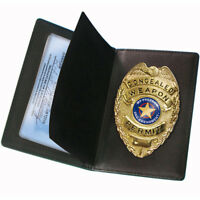 PS Products Concealed Carry Badge and Wallet Black PSCWPB