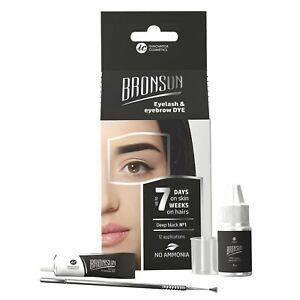 Augenbrauen Färbeset Set Mini Kit Instant Eyebrow Brow Langanhaltende 4-teilig