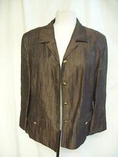 Ladies Suit Jacket Basler EU 40, UK 14, brown linen with sheen, 3/4 sleeves 1399