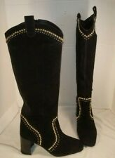 NEW FREE PEOPLE JEFFREY CAMPBELL LOLITA BLACK SUEDE STUDDED BOOTS WOMEN'S US 8.5