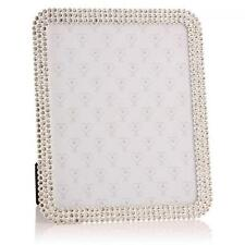 """Beautiful Crystal Square 8"""" x 10"""" Photo Frame Vintage antique Bling style 24955"""