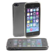 5 x GREY APPLE iPHONE 5 /5G SOFT GEL SILICONE RUBBER CASES :FROSTED BACK TPU M26