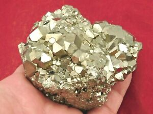 Big DODECAHEDRON Pyrite Crystal Cluster From Peru! 558gr