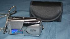 Vivitar ViviCam 3915 5.0MP Digital Camera - Silver WORKING ~ w/ Case & SD Card