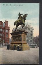 Yorkshire Postcard - The Black Prince Statue, Leeds    A7091