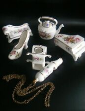 Collection HAMMERSLEY Miniature China Piano Sudan Chair Kettle Shoe Whistle etc