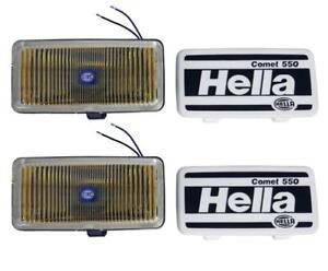 HELLA 550 Series 55W 12V H3 Fog Lamp Kit - Amber