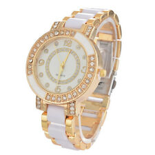 LP:Keramikband Damen Uhr Armbanduhr Analog Damenuhr Quarz Uhr Watch Strass Weiß
