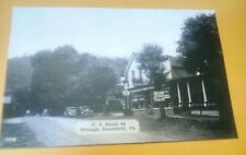 Old Somerfield PA. Rt. 40 Hooks Lunch, White Flash Sign Ghost Town Postcard Repo