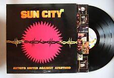 Artists United Against Apartheid Sun City US LP 1985 + Innerbag Bono P. Gabriel