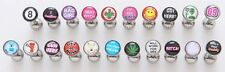 "5 Logo Steel Ball Tongue Rings WHOLESALE Bad Word Barbells 14g 5/8"" Body Jewelry"