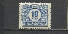 919-SELLO FISCAL RECARGO TRANSITORIO  GUERRA **  1938 N10 EDIFIL .10 PTS.25,00€