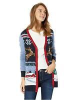 Ugly Christmas Sweater Company Women's, Twilight Xmas Scene Cardigan, Size Large