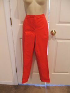 NWT  $59 HOT PINK JACQUARD TONE ON TONE PRINT cotton CROPPED pant  size 14 TALL