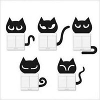 5 Pcs Creative Switch Stickers Fun Cat Series Bedroom Parlor Wall Stickers
