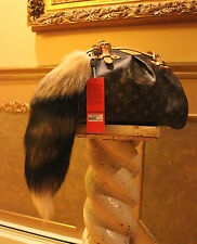 "Designers Real Fox Fur Tail Tassel Luxury HandBag Charm Key Chain 22"" Long $199"