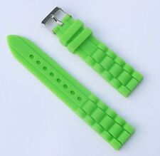 New 18mm Silicone Rubber Watch Band Strap - Light Green