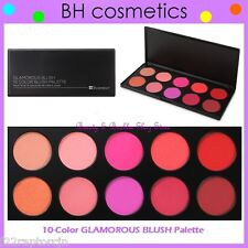 NEW BH Cosmetics 10-Color GLAMOROUS Blush Palette w/Case FREE SHIPPING Powder