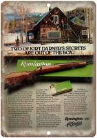 "Remington 700 Rifle Kirt Darner Vintage Ad 10"" x 7"" Metal Sign"